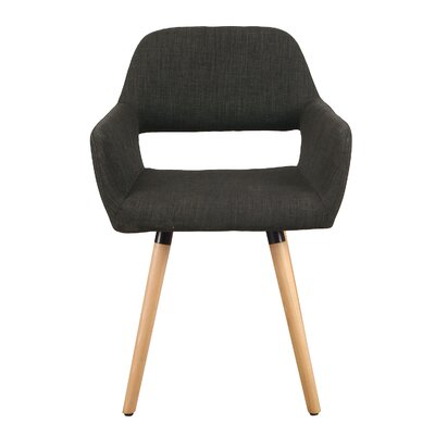 Bentwood Leisure Arm Chair Upholstery: Deep Gray
