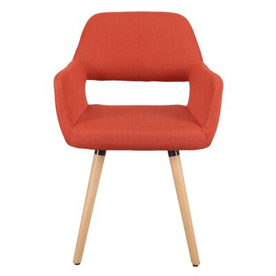 Bentwood Leisure Dining Chair Upholstery: Reddish Orange