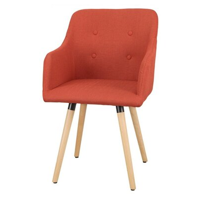 Bentwood Leisure Arm Chair Upholstery: Reddish Orange