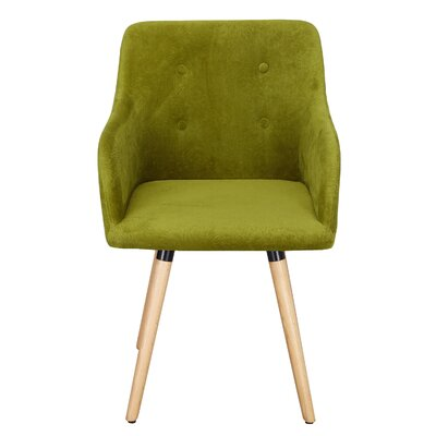 Bentwood Leisure Arm Chair Upholstery: Green