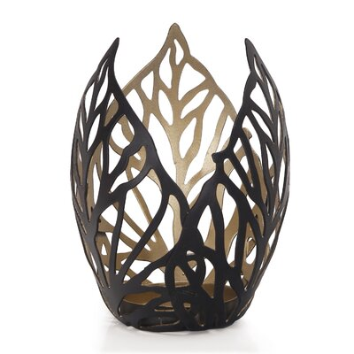 2016 New Romantic Arty 3 Leaf Metal Votive
