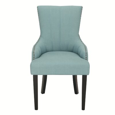 Fabric Arm Chair Upholstery: Blue