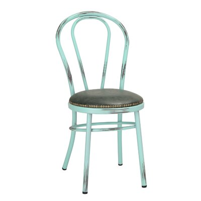 Vintage Metal Side Chair Finish: Aqua
