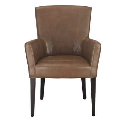 Leather Arm Chair Upholstery: Molasses