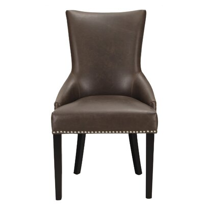 Leather Arm Chair Upholstery: Vintage Brown