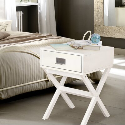 Modern End Table Color: White