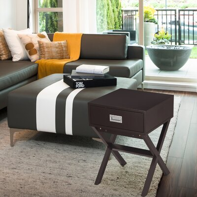 Modern End Table Color: Brown