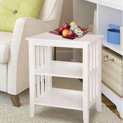 2 Shelf End Table Finish: White