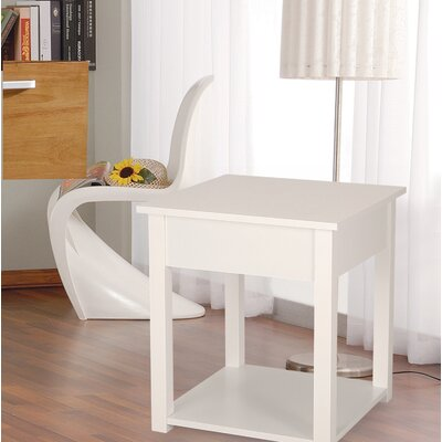 Modern Classic End Table Color: White
