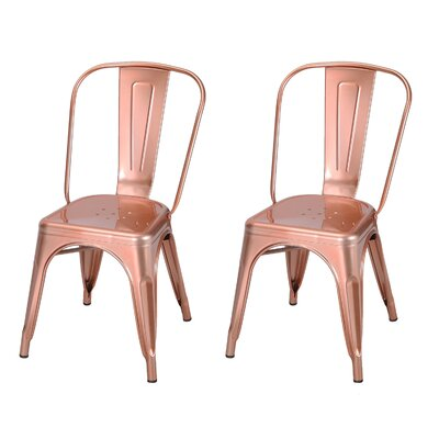 Donis Side Chair Finish: Rose Gold