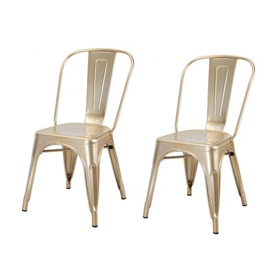 Donis Side Chair Finish: Gold