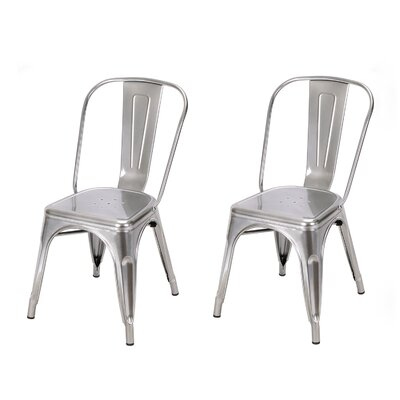 Side Chair Finish: Silver