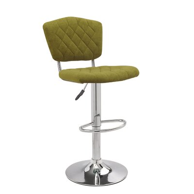 Adjustable Height Swivel Bar Stool Color: Dark Green