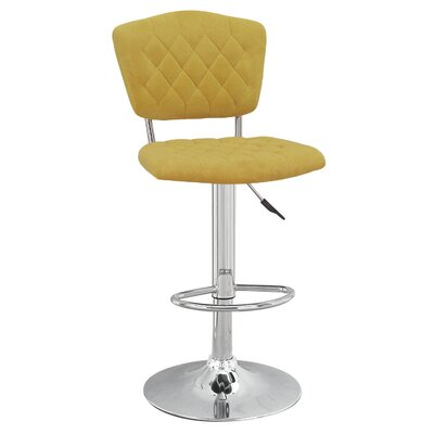 Adjustable Height Swivel Bar Stool Color: Yellow
