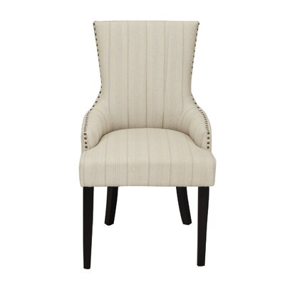 Fabric Straight Stripe Arm Chair