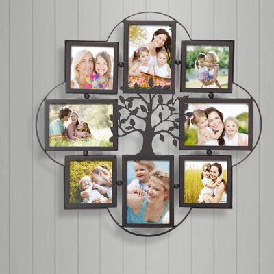 8 Opening Decorative Iron Metal Wall Hanging Collage Picture Frame