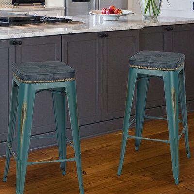 30.5 Bar Stool Finish: Teal