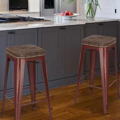 30.5 Bar Stool Finish: Red