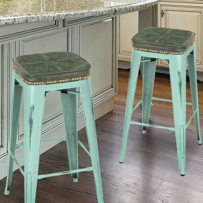 30.5 Bar Stool Finish: Aqua