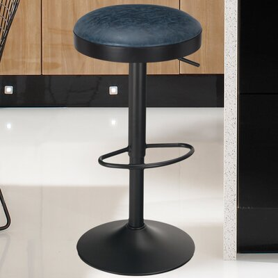 31.5 Swivel Bar Stool Finish: Dark Blue