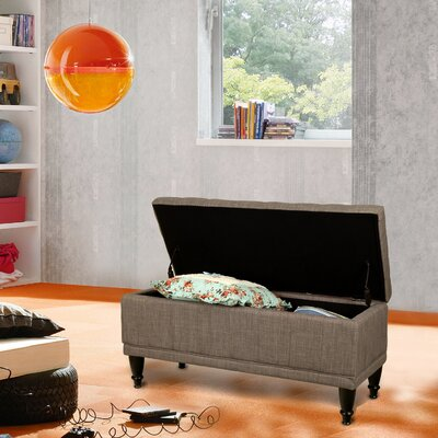 Rectangular Storage Ottoman Color: Brown
