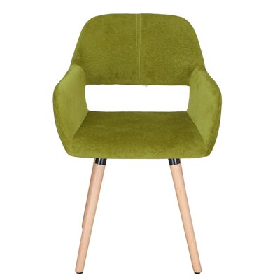 Bentwood Leisure Dining Chair Upholstery: Green