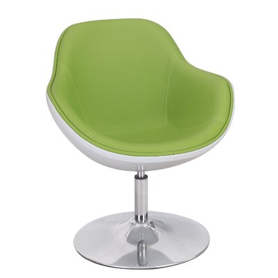 Egg Shaped Leisure Lounge Chair Upholstery: Green