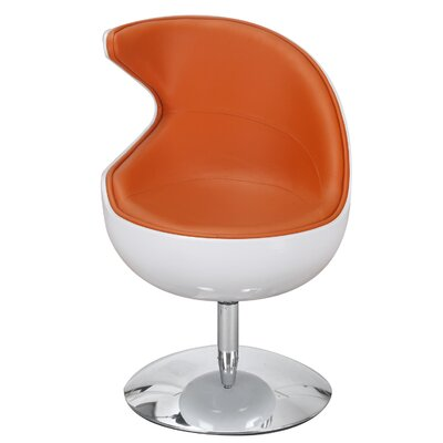Leisure Lounge Chair Upholstery: Orange