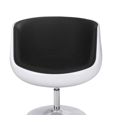 Leisure Barrel Chair Upholstery: Black
