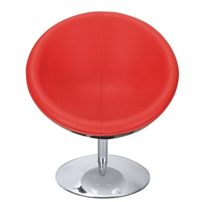 Leisure Lounge Chair Upholstery: Red
