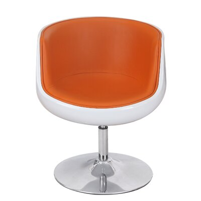 Leisure Barrel Chair Upholstery: Orange