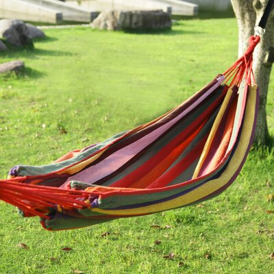 Naval Tree Hanging Suspended Indoor/Outdoor Cotton Tree Hammock Size: 63 W x 118 D, Color: Antigua