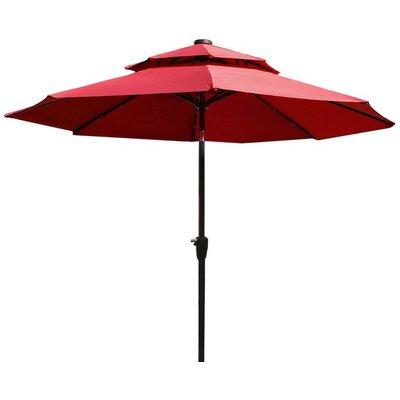 9 Illuminated Umbrella Fabric: Red