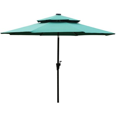 9 Illuminated Umbrella Fabric: Dark Green