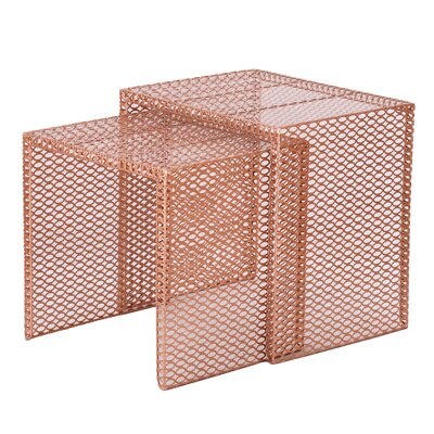 Harlan 2 Piece Nesting Tables Finish: Copper Gold
