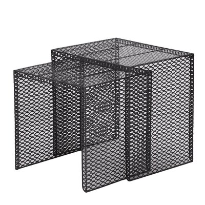 Doerr 2 Piece Nesting Tables Color: Black