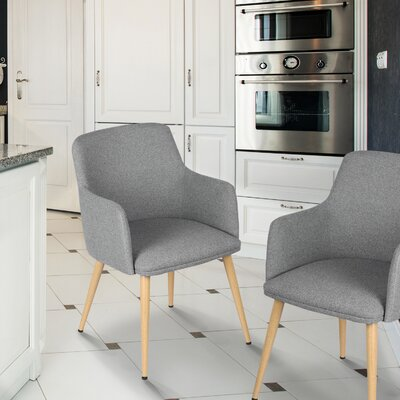 Arm Chair Upholstery: Gray