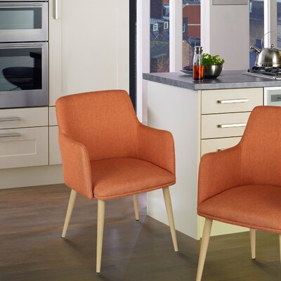 Arm Chair Upholstery: Orange