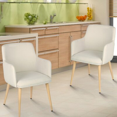 Arm Chair Upholstery: White