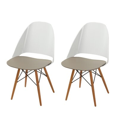 Templeton Side Chair (Set of 2) Finish: Mocha Cream