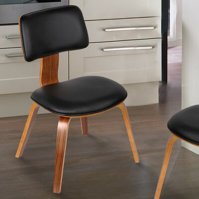 Bentwood Side Chair Upholstery: Matt Black