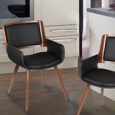 Bentwood Arm Chair Upholstery: Matt Black
