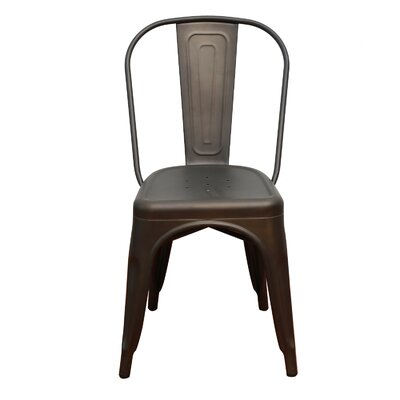Remmington Stackable Tolix Side Chair (Set of 4) Finish: Bronze