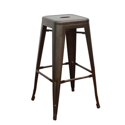 Lamont 30 Bar Stool (Set of 4) Finish: Bronze