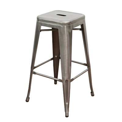 Lamont 30 Bar Stool (Set of 4) Finish: Gunmetal