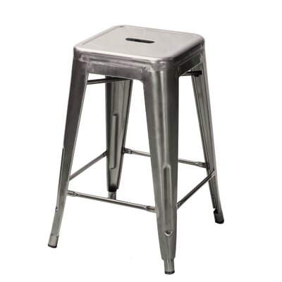 Zane 24 Bar Stool Finish: Gunmetal
