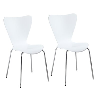 Edensor Indoor/Outdoor Side Chair (Set of 2) Finish: White