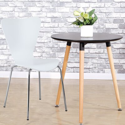 Prompton Indoor/Outdoor Dining Chair (Set of 2) Finish: White