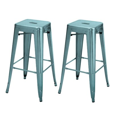 Vivian Bar Stool Color: Glossy Blue