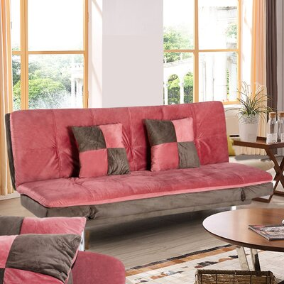 Kasandra Fabric Sleeper Sofa with 2 Pillows Upholstery: Red